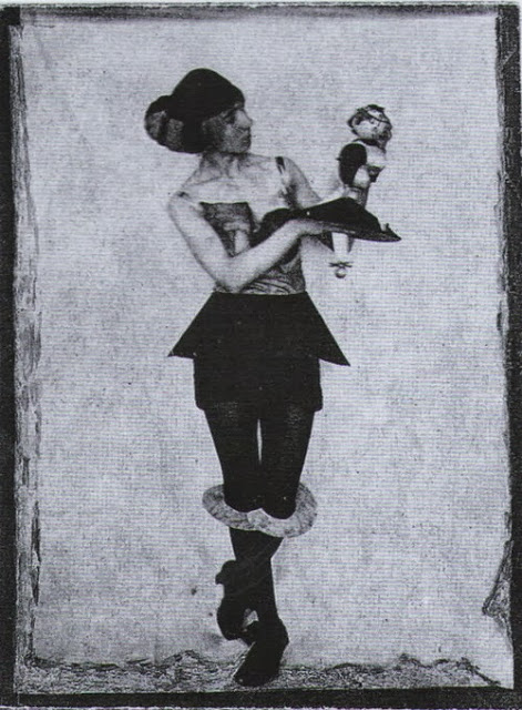 """Hannah Hoch and Dada Doll"" | Sourced via Pinterest | 1925"