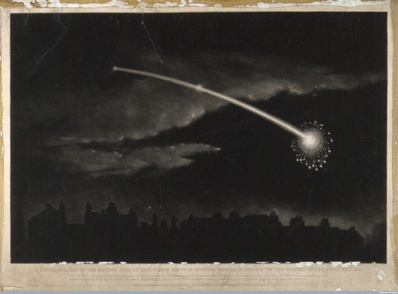 A Comet in the Night Sky Above London, ca. 1869 | sourced via wellcomecollection.org