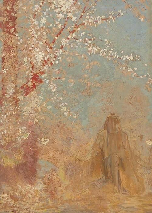 Figure Under a Blossoming Tree | Odilon Redon | 1904/1905 | sourced via Google Arts & Culture