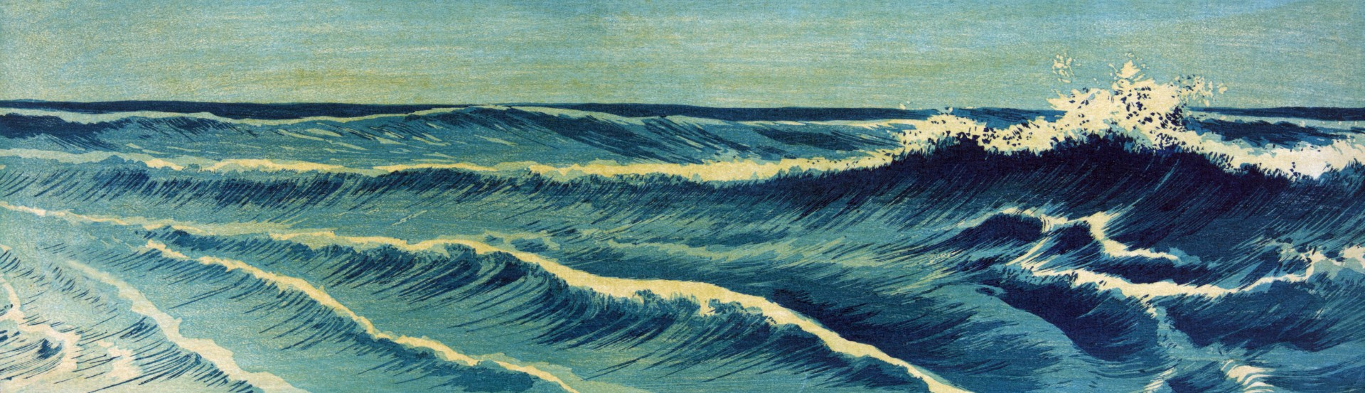 Vintage Japanese sea and waves illustration | sourced via publicdomainpibtures.net