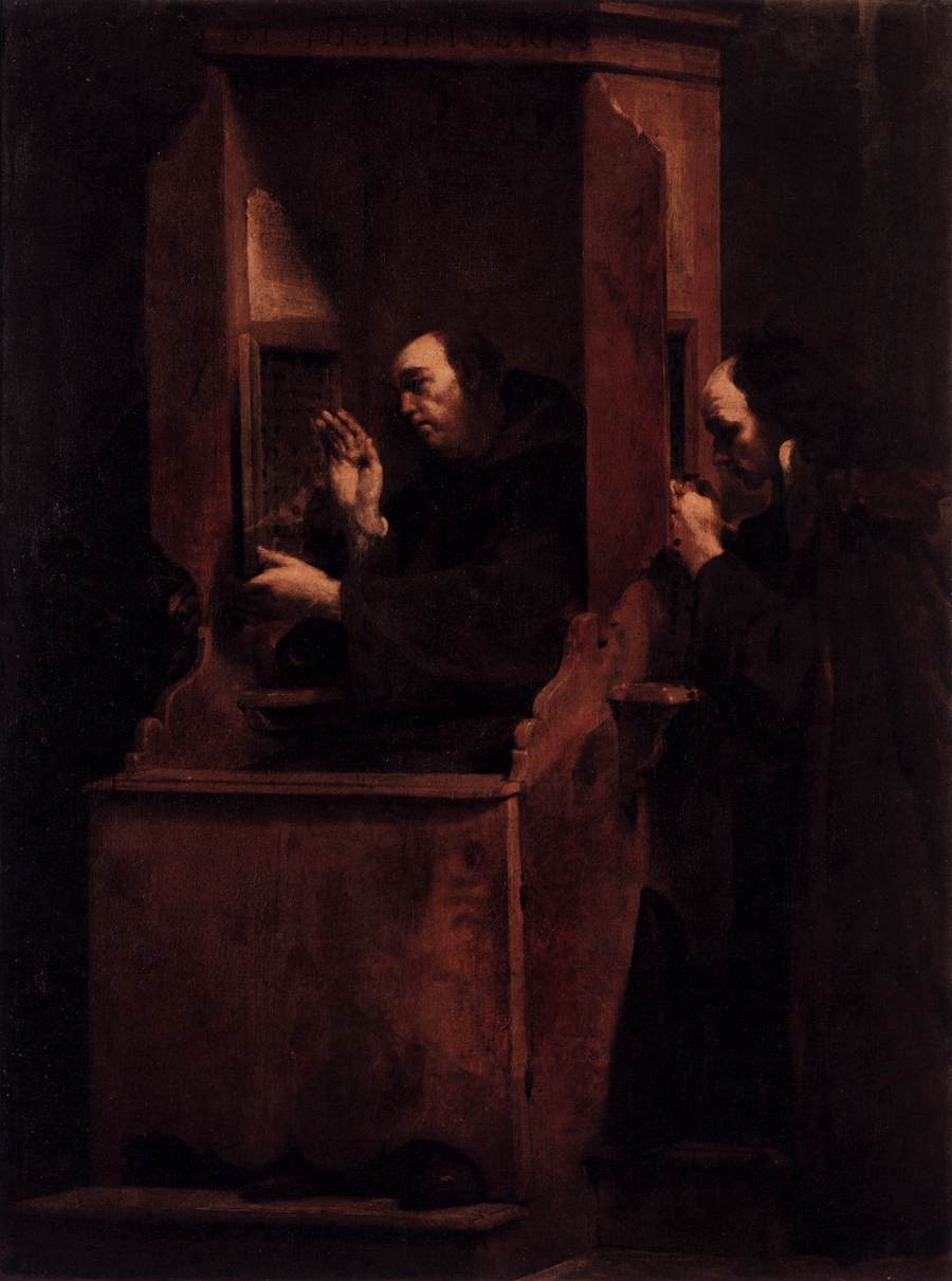 Giuseppe Maria Crespi | The Seven Sacraments Confession | 1712 | sourced via WikiArt