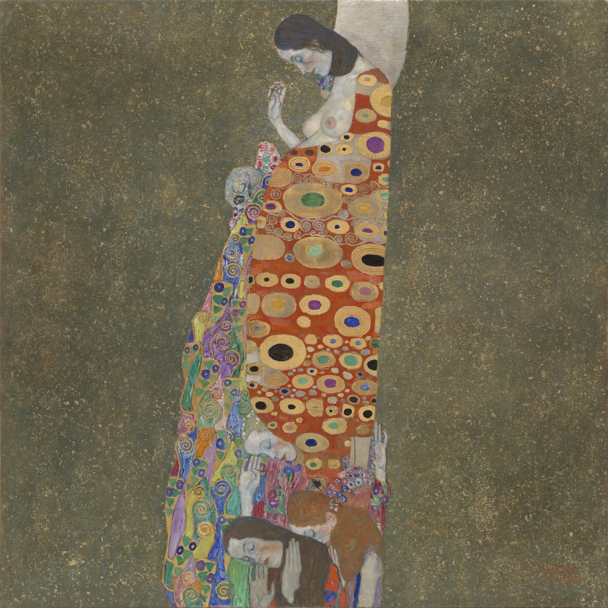 Gustav Klimt | Hope | 1907-8 | sourced via moma.org