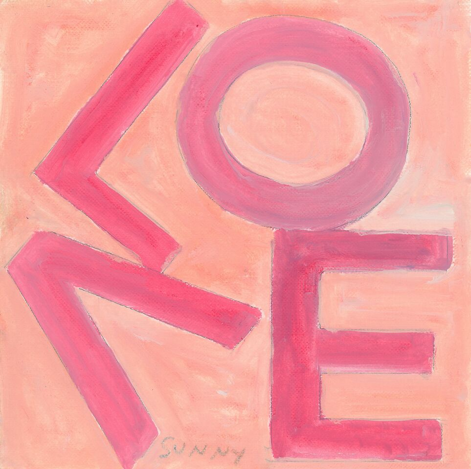 LOVE Square Pink/Peach