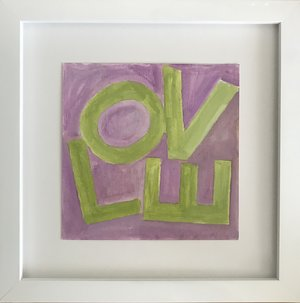 Love Square Lime/Lavender