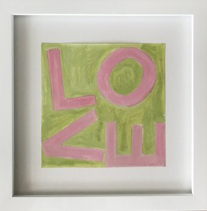 Love Square Pink/Green