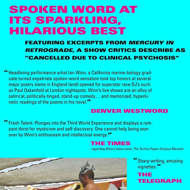 "After clinical psychosis and fifteen years in my head, the audiobook is finally out. God: tackled! Vegetarians: slain! Chivalry: attempted! Drugs: differentiated! America: Explained! My favorite review of all time for the spoken word? ""Strangely gripping"" -- The Scotsman Please do go through my bio, check it out and, if you love it, star that shit up! #spokenword #audiobook #authorsofinstagram #narratorsofinstagram #burningman #terencemckenna #mercuryretrograde #dmt #dmttrip #psychedelic #psychedelicart #oshoquotes #osho #wildwildcountry #lovingkindness #indiatravel"