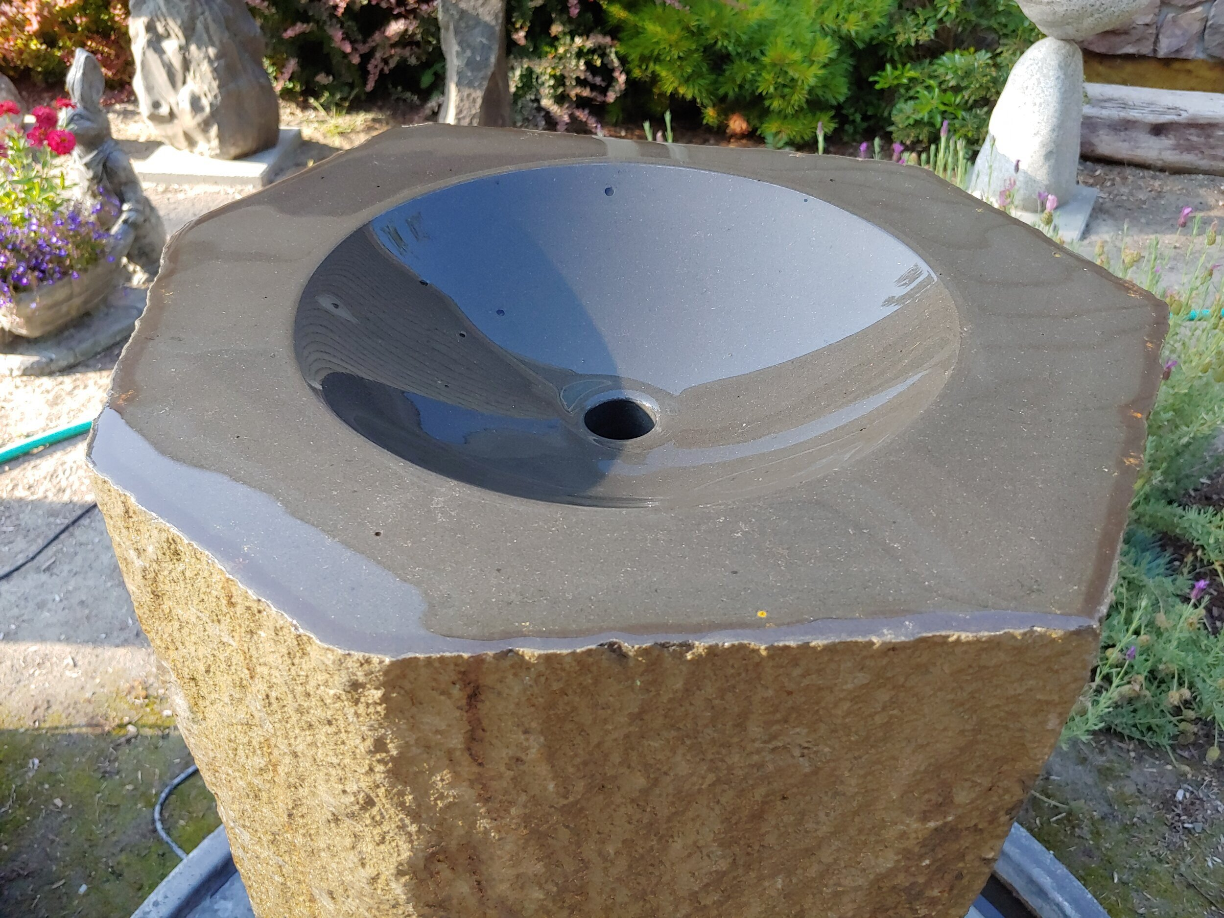 Cut and Polished Basalt Fountain