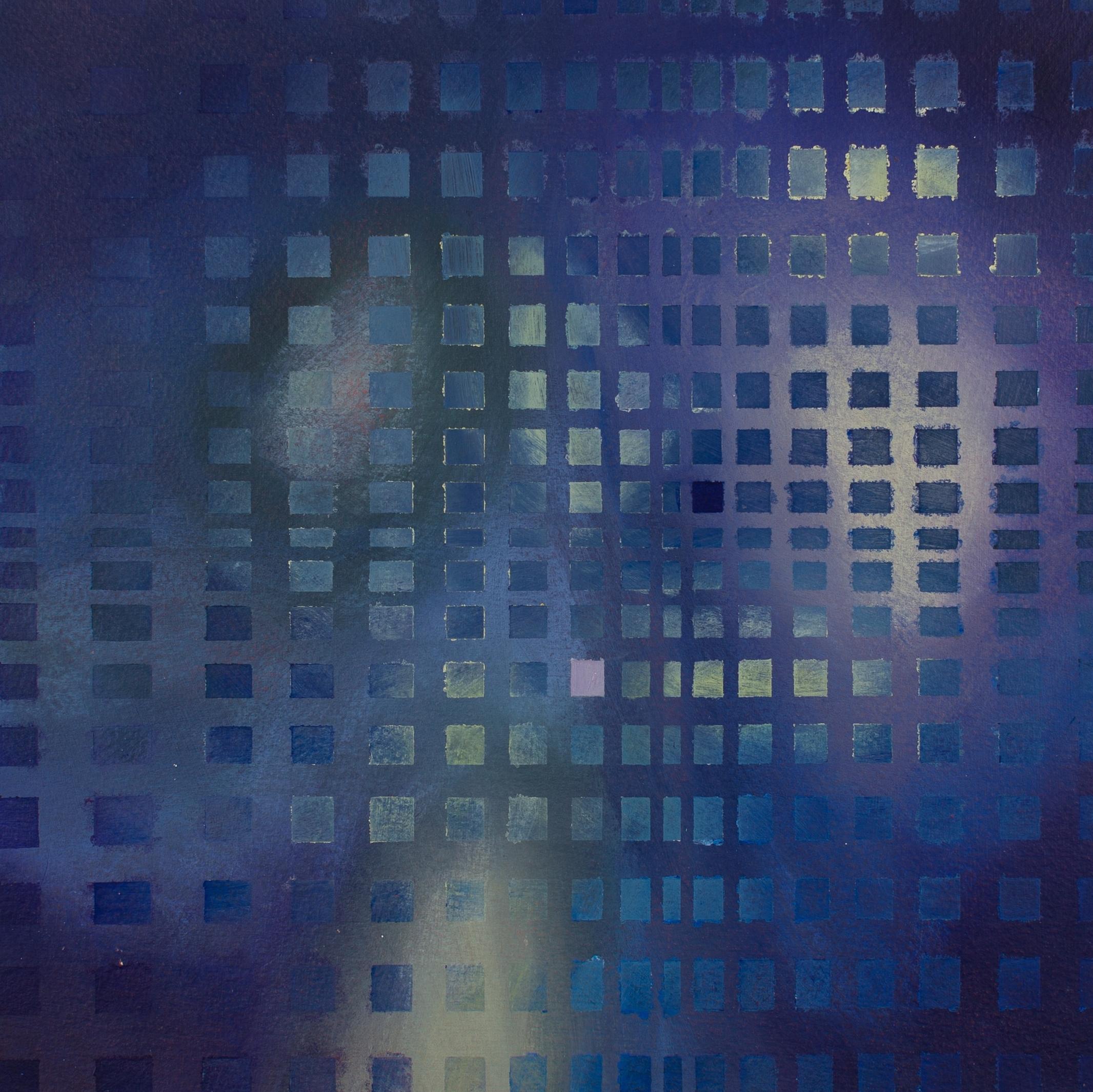 "Liminal II, 2015, 11""x11"", acrylic on paper"