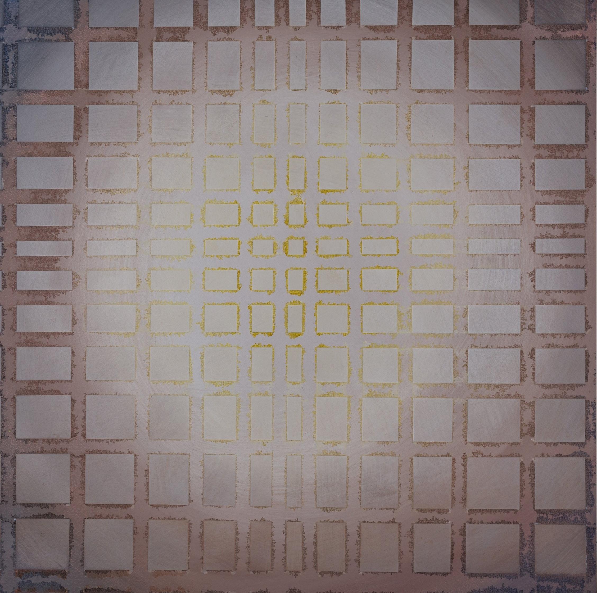 """Liminal III, 2015, 20""""x20"""", acrylic on paper"""