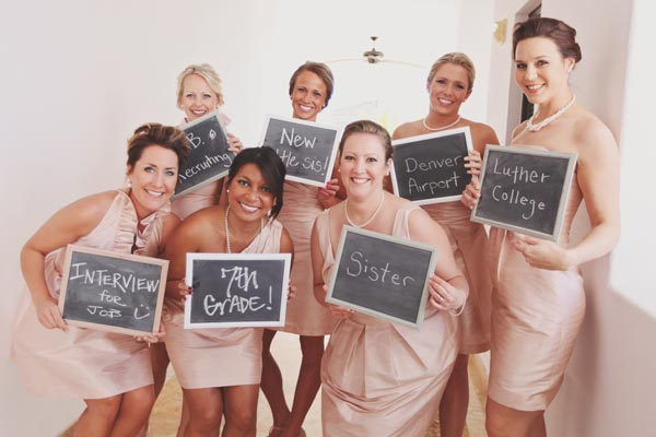 What a great way to capture how all of your leading ladies know you.....