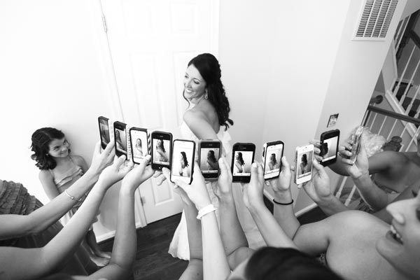 This is a wonderful way to capture not only the bride, but all of your girls capturing you also