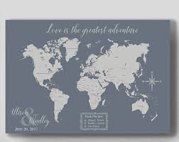What could be better than a personalized push-pin map for the couple to track their travels and plan their bucket list trips?