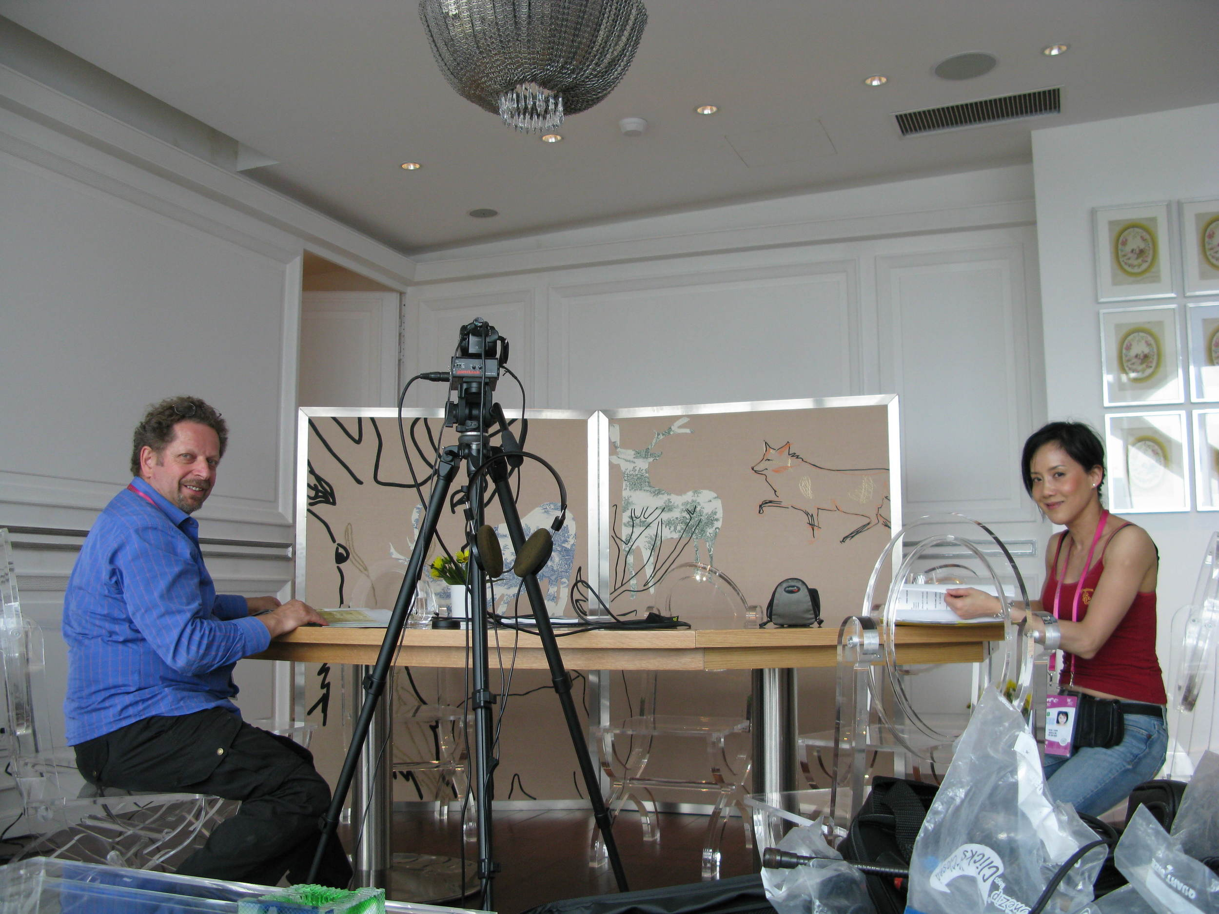 Mina Chow and Edward Lifson at France Pavilion 2010.JPG