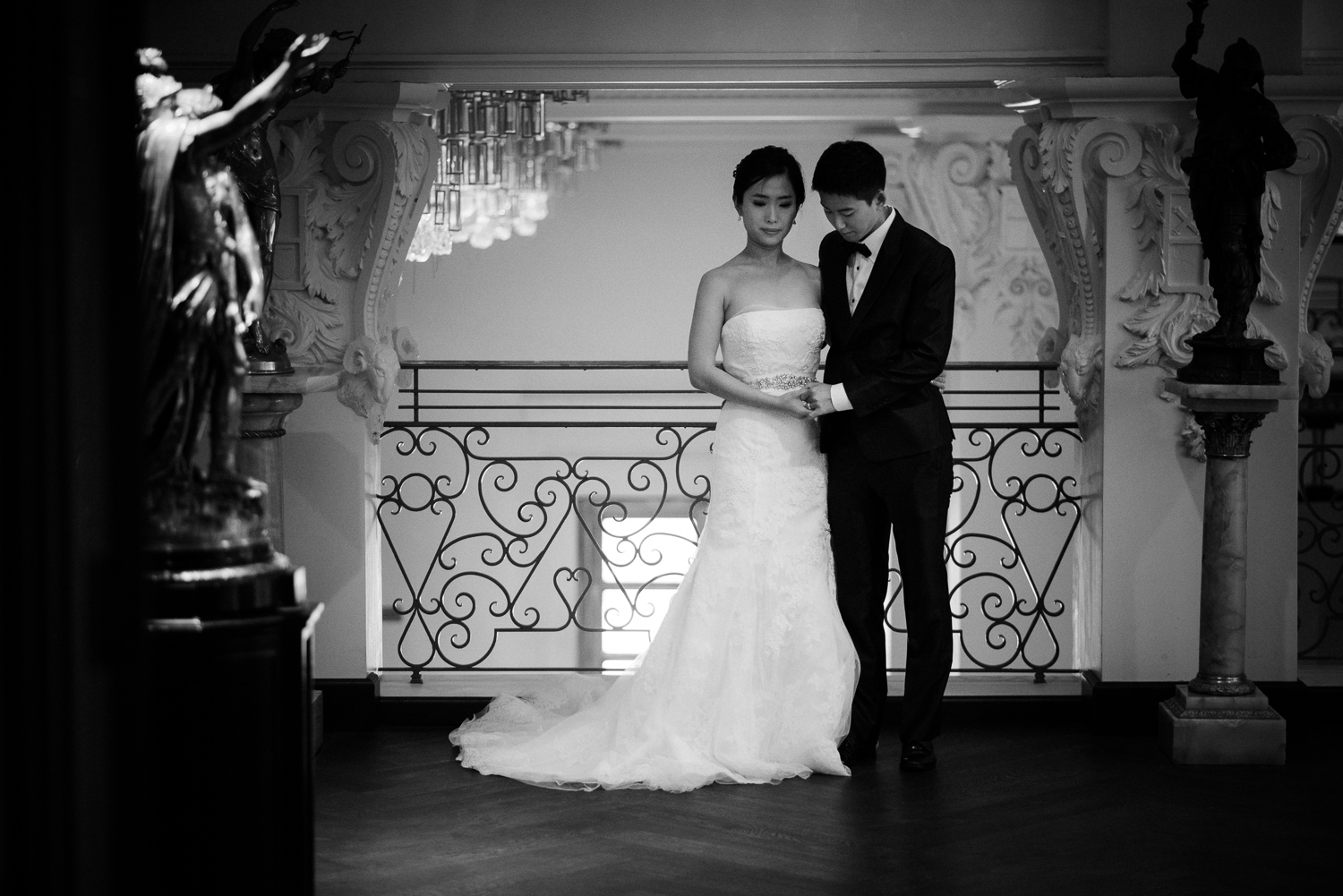 Bride and Groom Portraits St Anthony Hotel