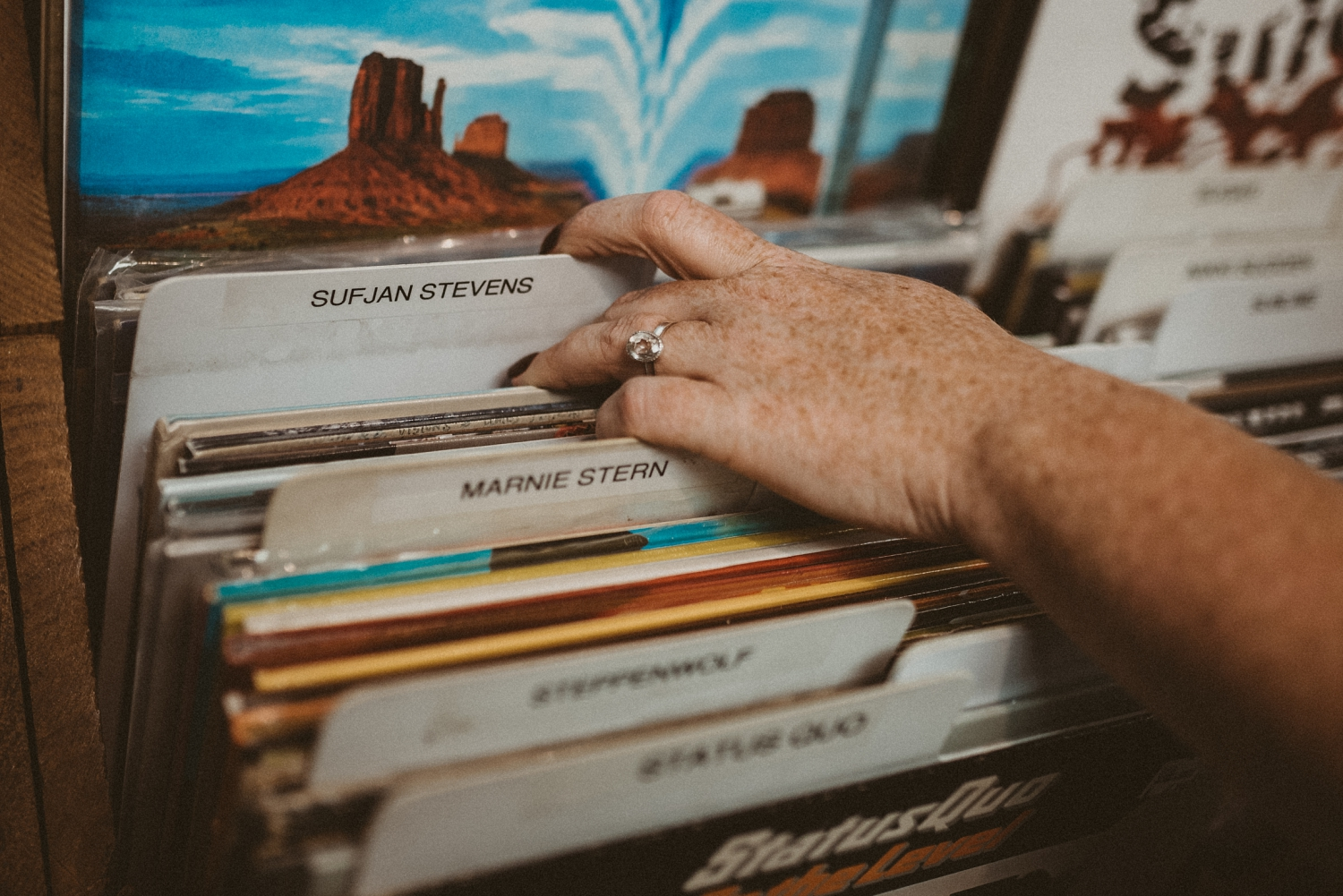 Record Store Engagement Photography