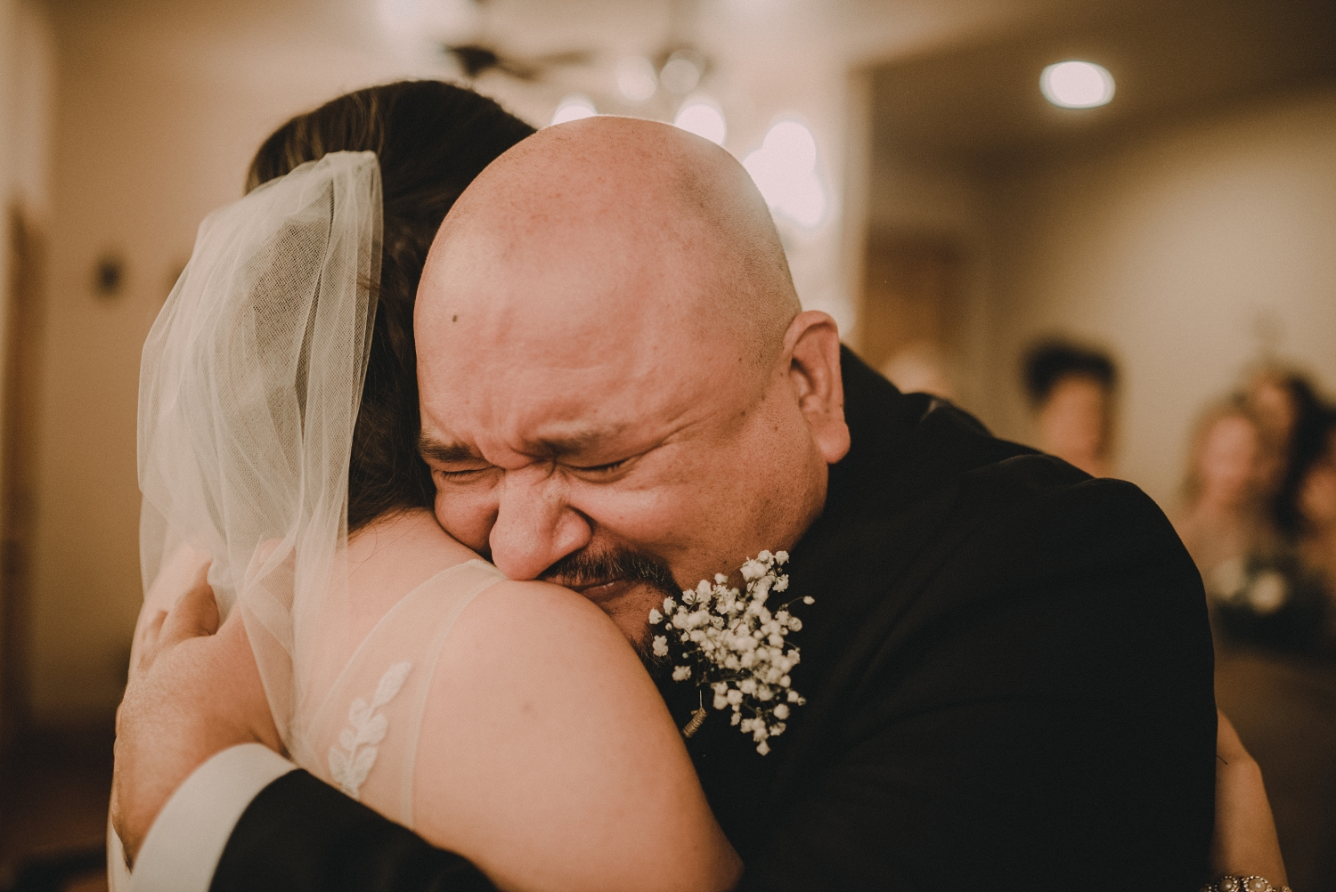 Father First Look at Houston Wedding
