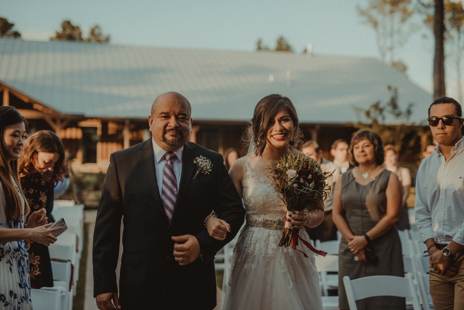 Bride walked down the aisle