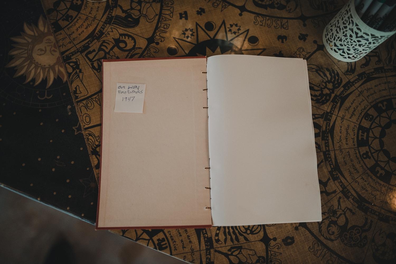 vintage wedding guest book