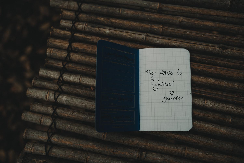 wedding vow book