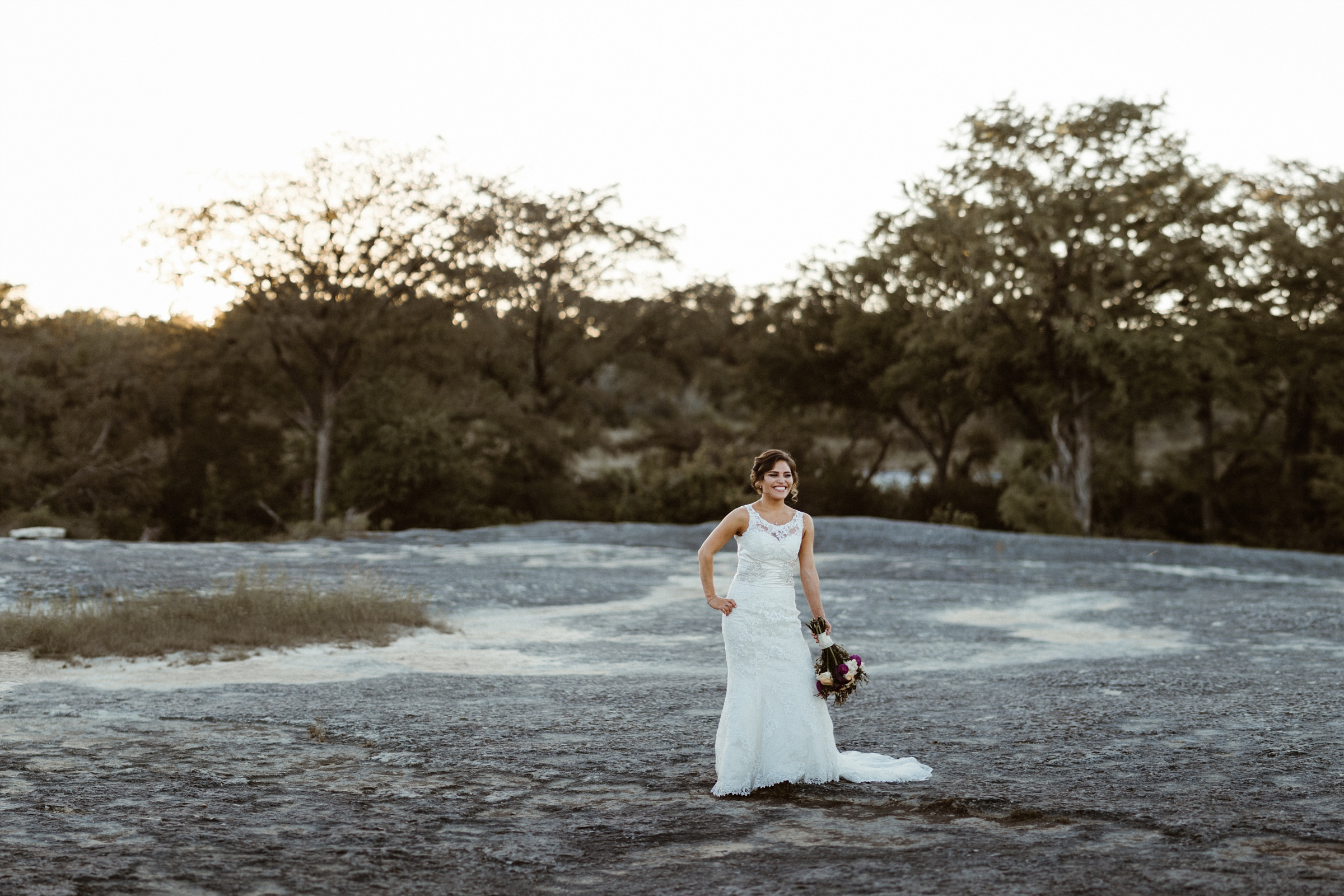 Austin Bridal Photography at McKinney Falls