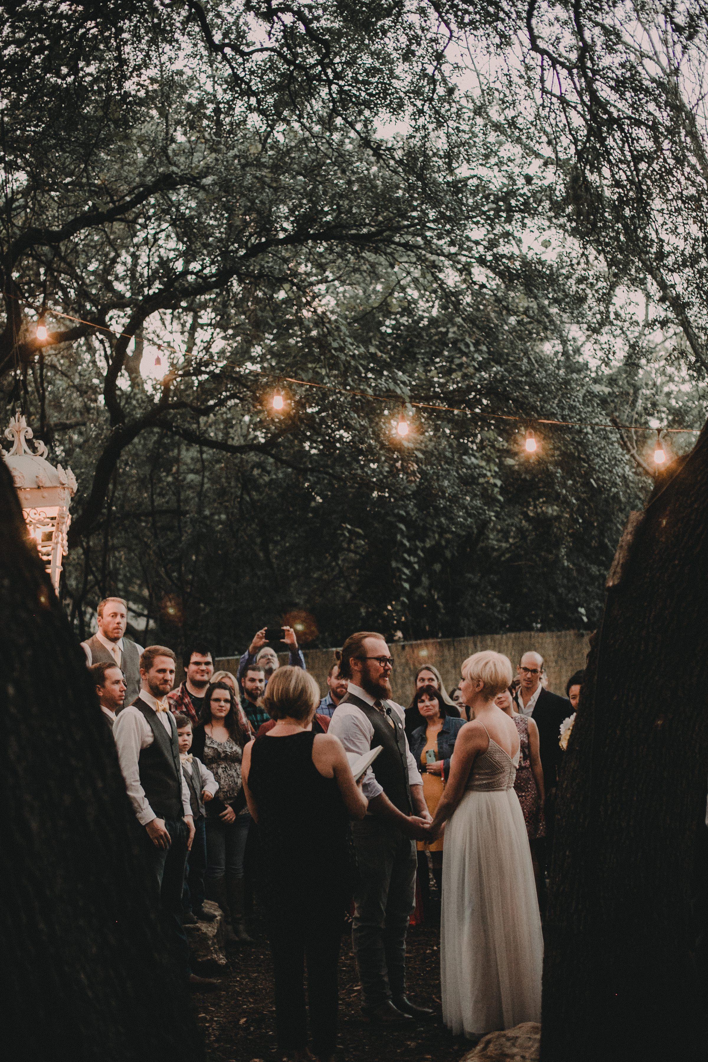 wedding ceremony at vuka austin