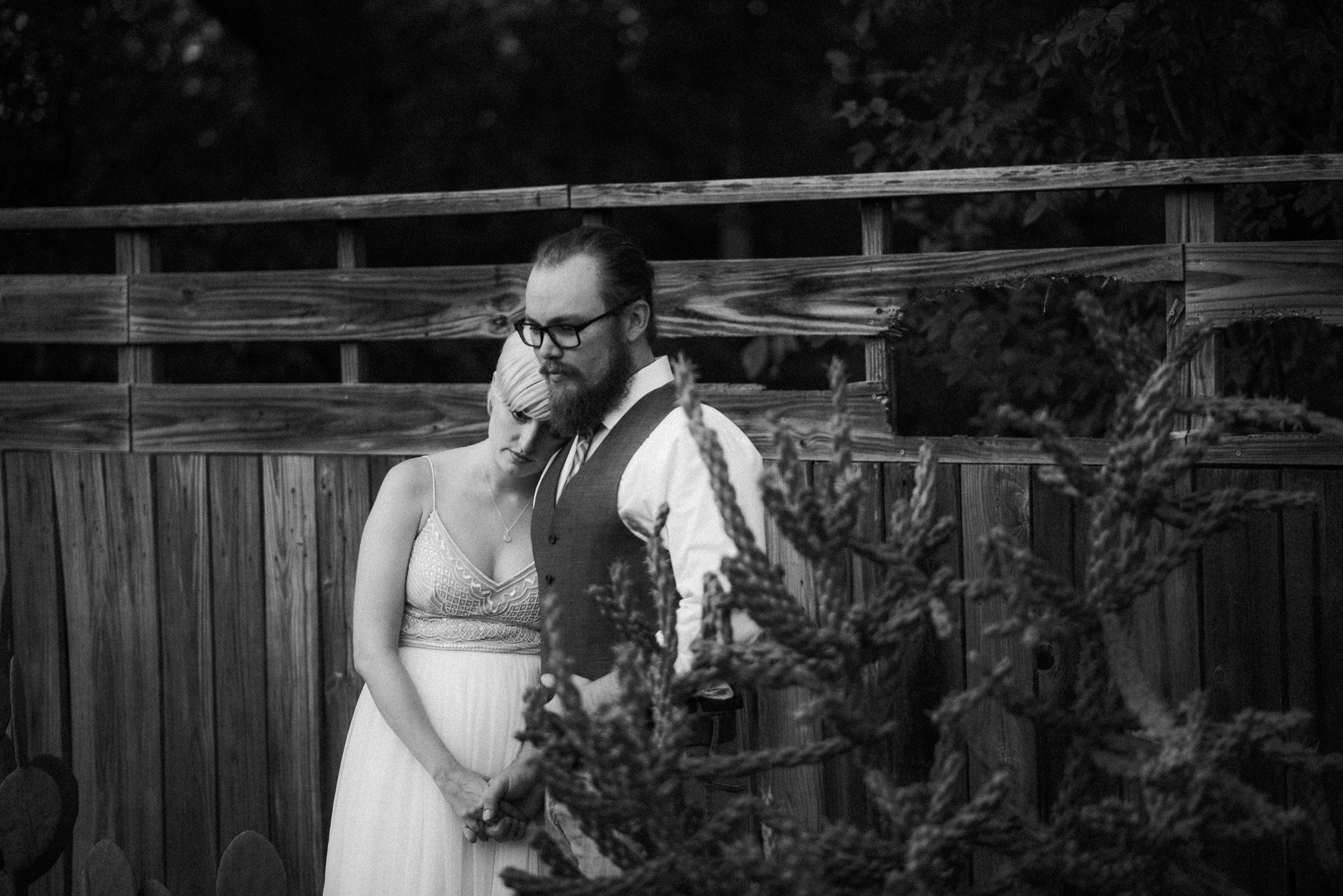 Black and White wedding portraits