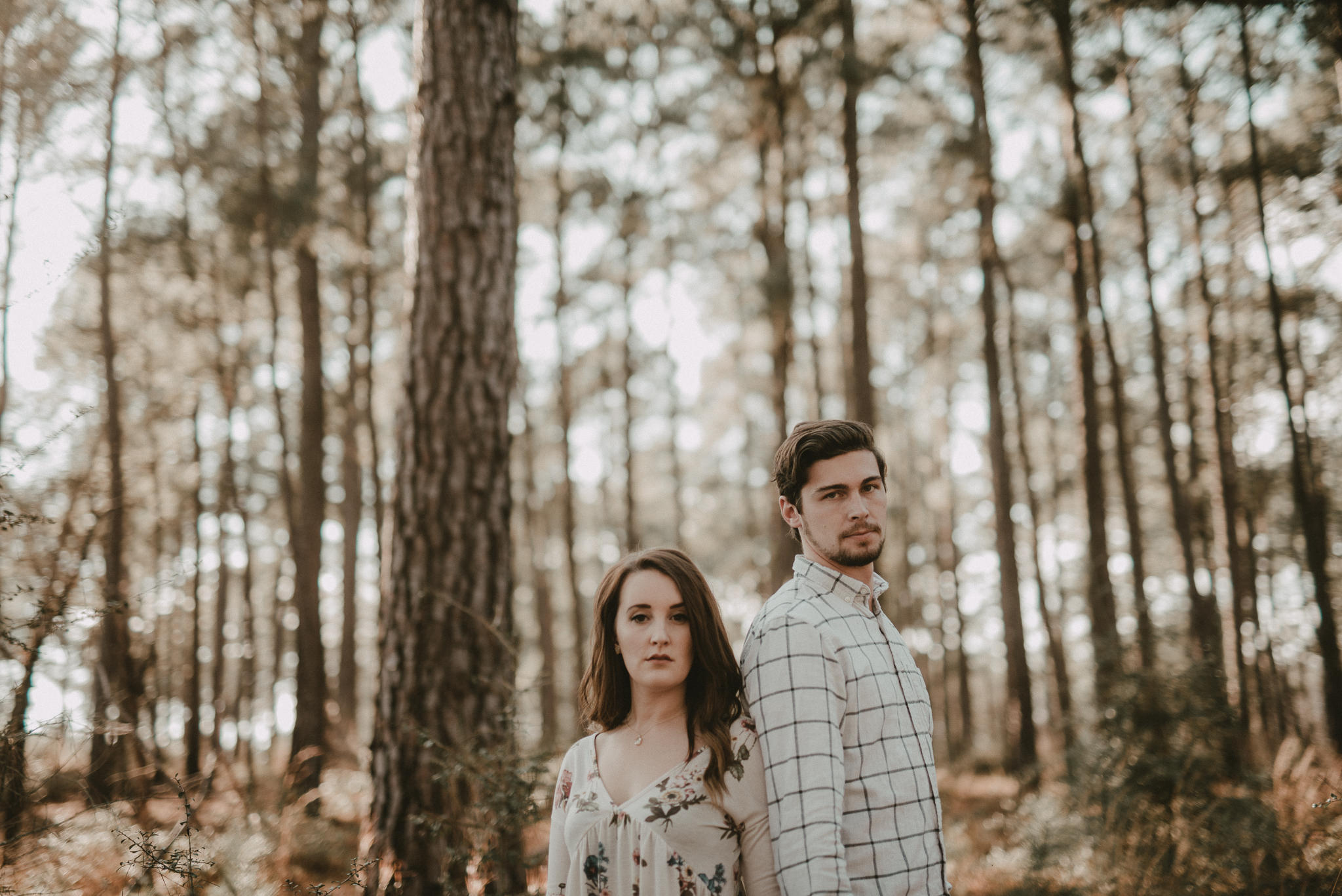 Engagement Session with pine trees