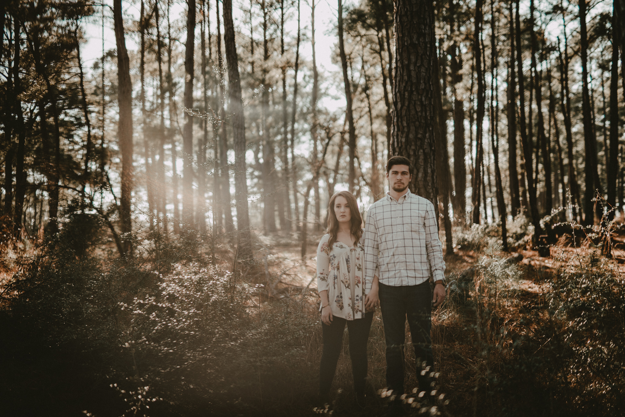 Couples portraits at Bastrop State Park