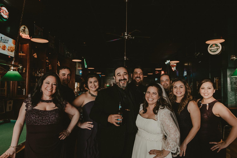 Texas Wedding Party at Pub