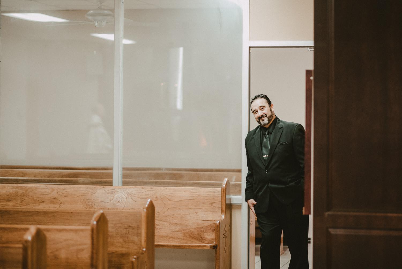 Groom Before Wedding in Corpus Christi