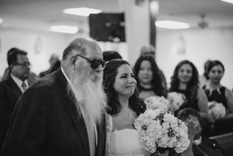 Bride at Corpus Christi Wedding