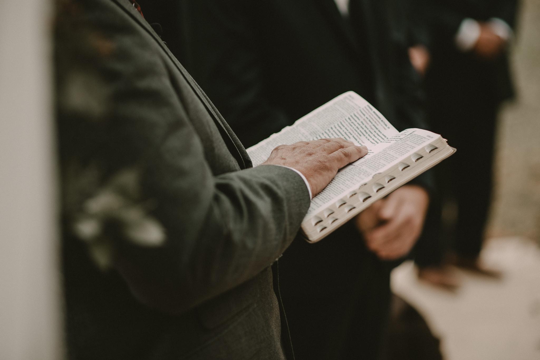 Wedding officiant Bible