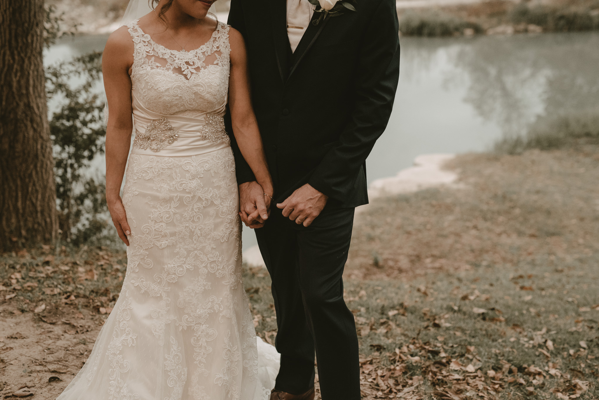 Bride and Groom at Zedler Mill Wedding