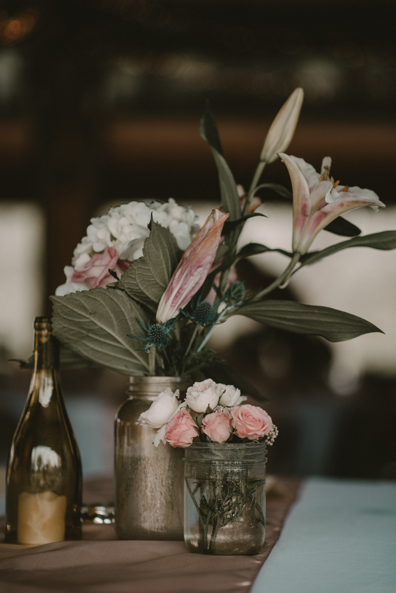 Rose and Lily Wedding Centerpiece