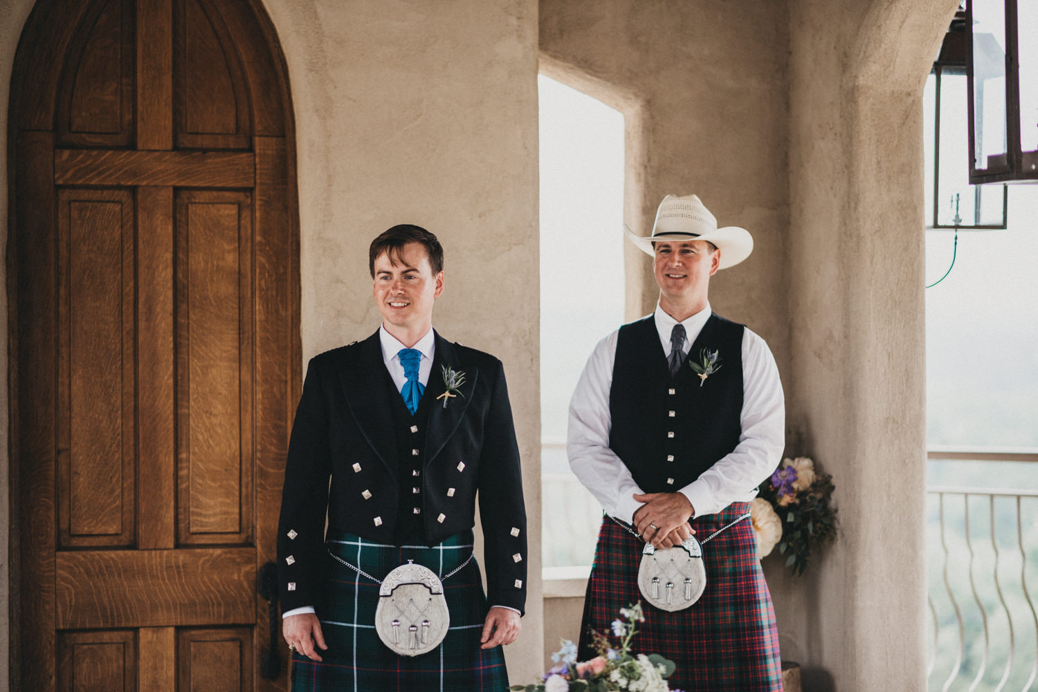 Groom and Best Man in Kilts