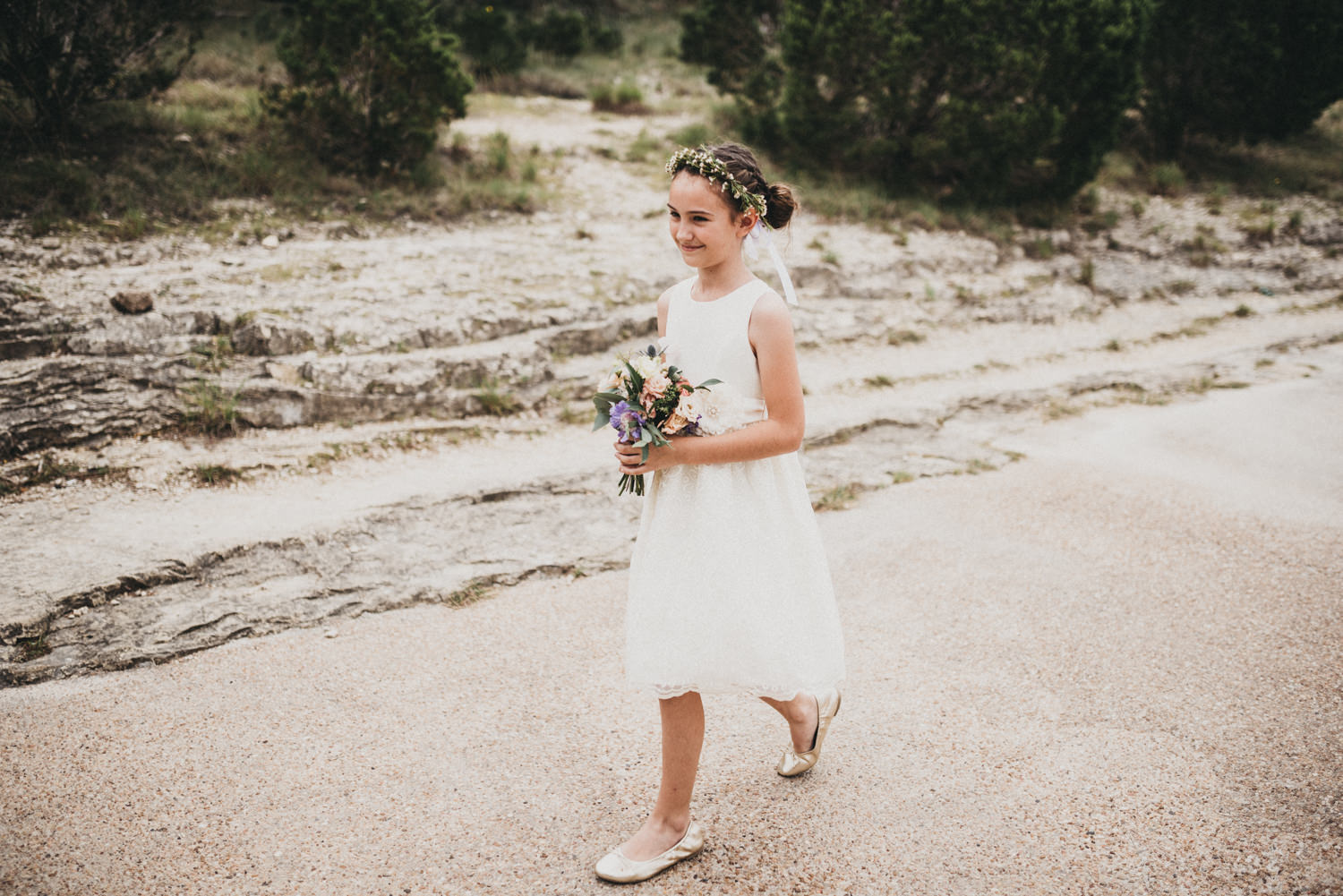 Flower girl at Austin's Chapel Dulcinea