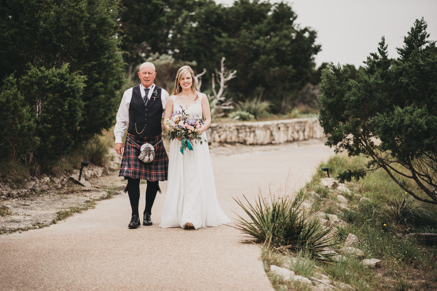 Scottish Bride and Father