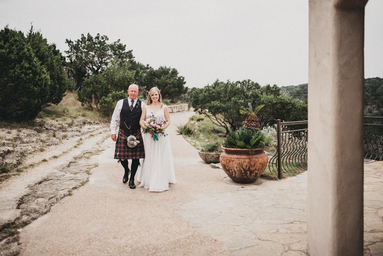 Bride walked down the aisle at Chapel Dulcinea