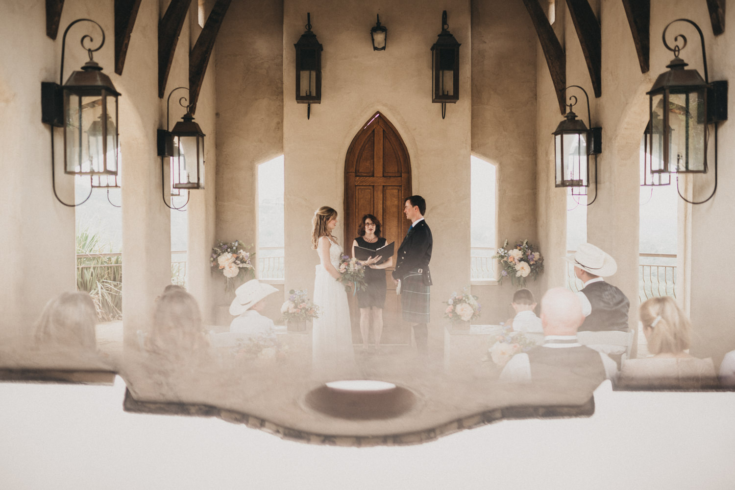 A wedding at Chapel Dulcinea in Austin, TX