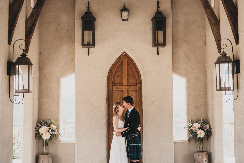 Bride and Groom at Chapel Dulcinea