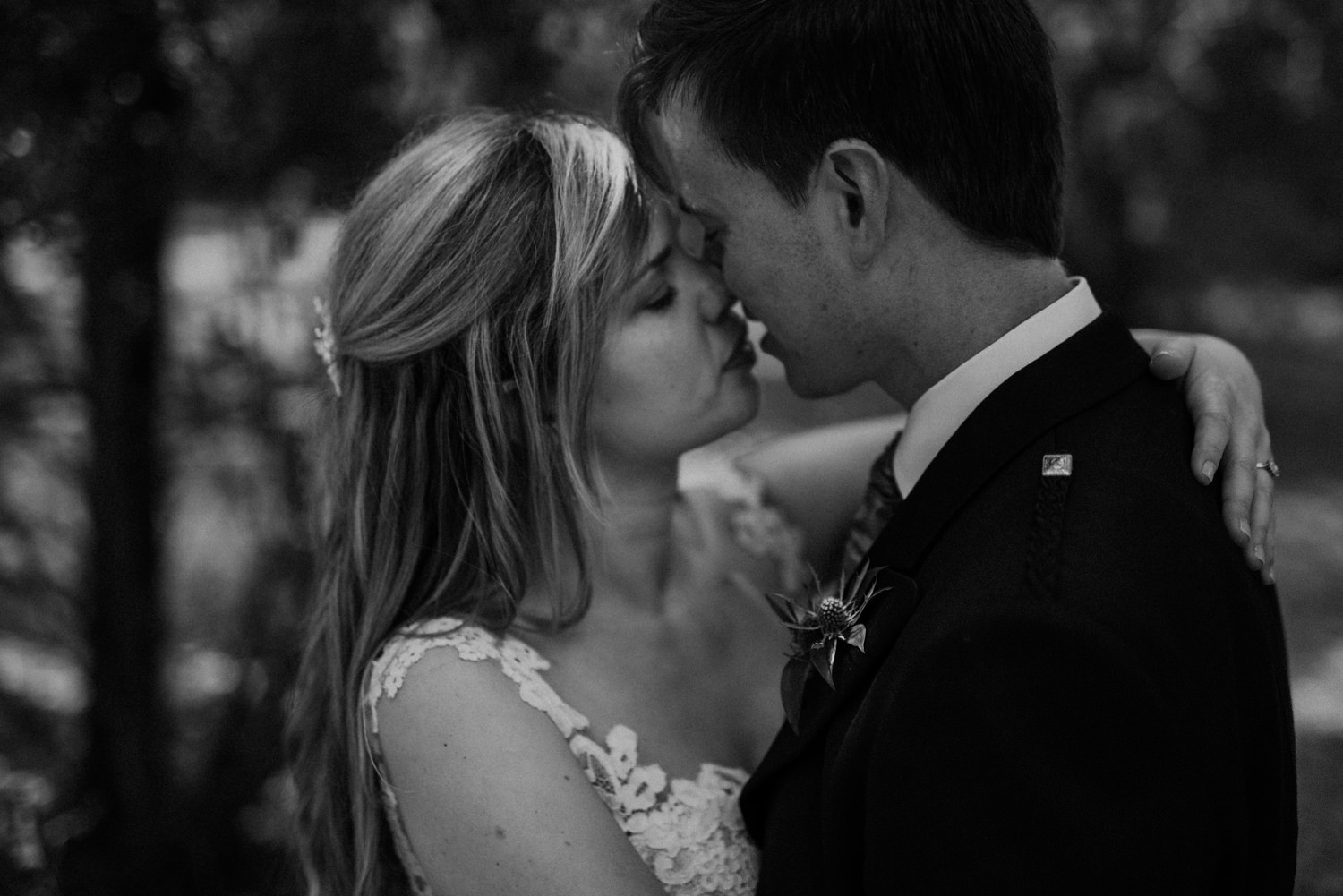 Moody Black and White Wedding