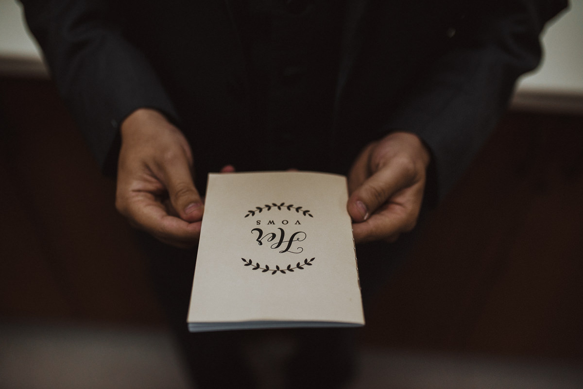 a groom and vow book