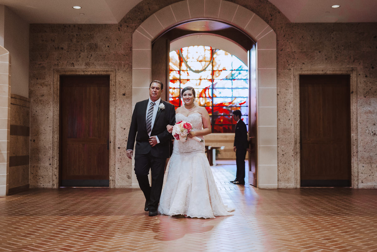 Bride and Father St Helen Catholic Church