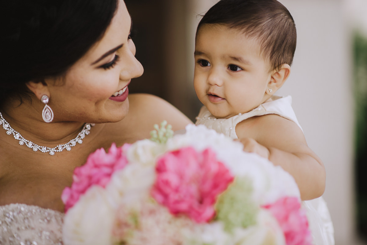 A bride and her daughter