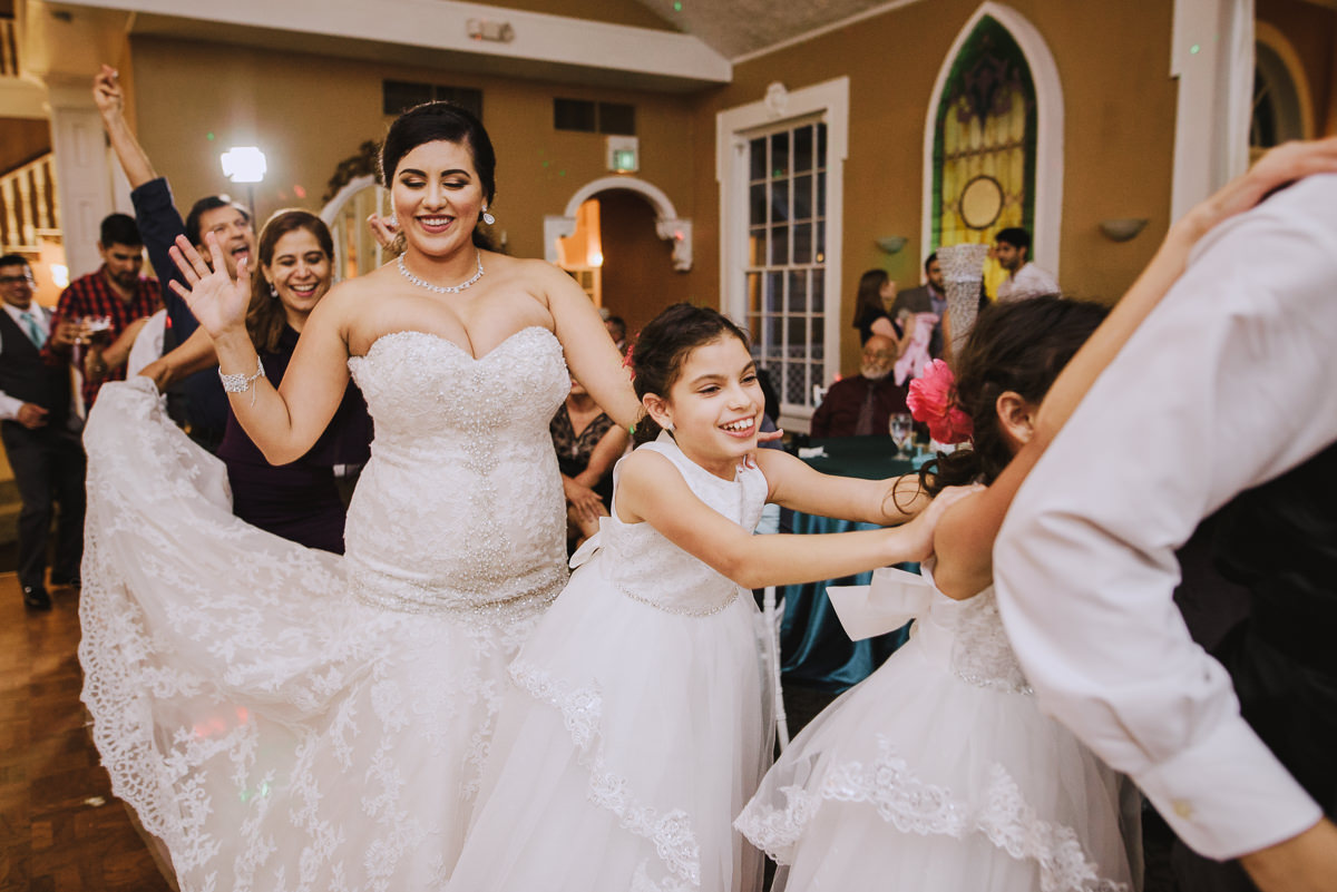 wedding reception train