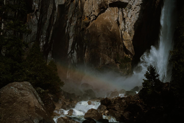 Yosemite Falls Waterfall Rainbow