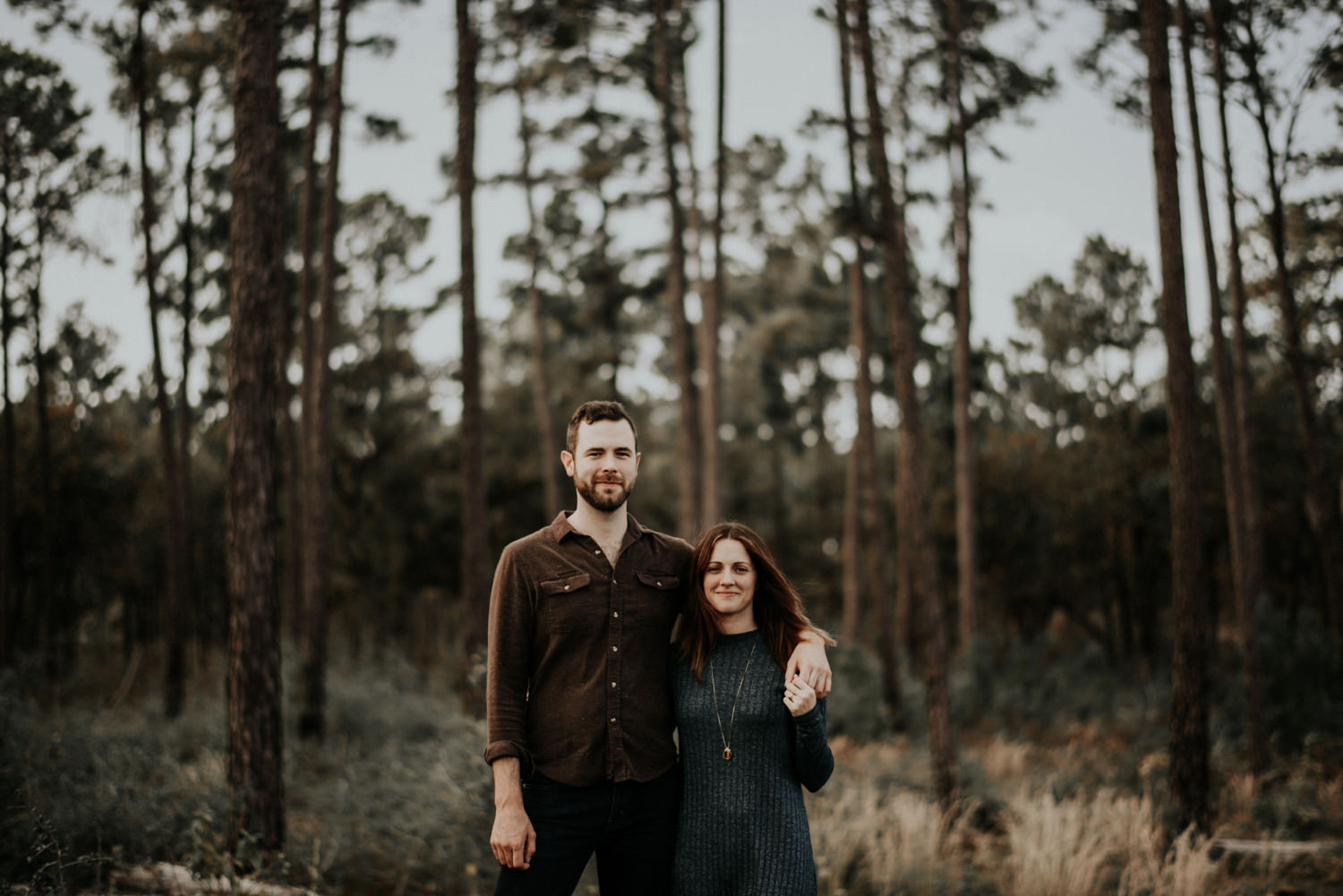 Engagement Photography in Pine Trees