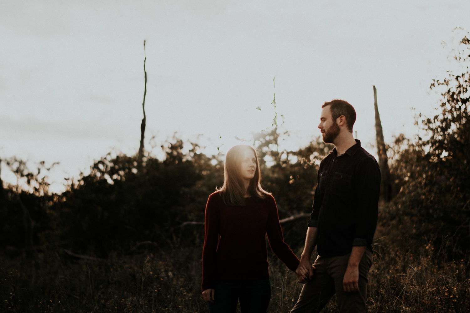 Engagement Session at Sunset in Texas