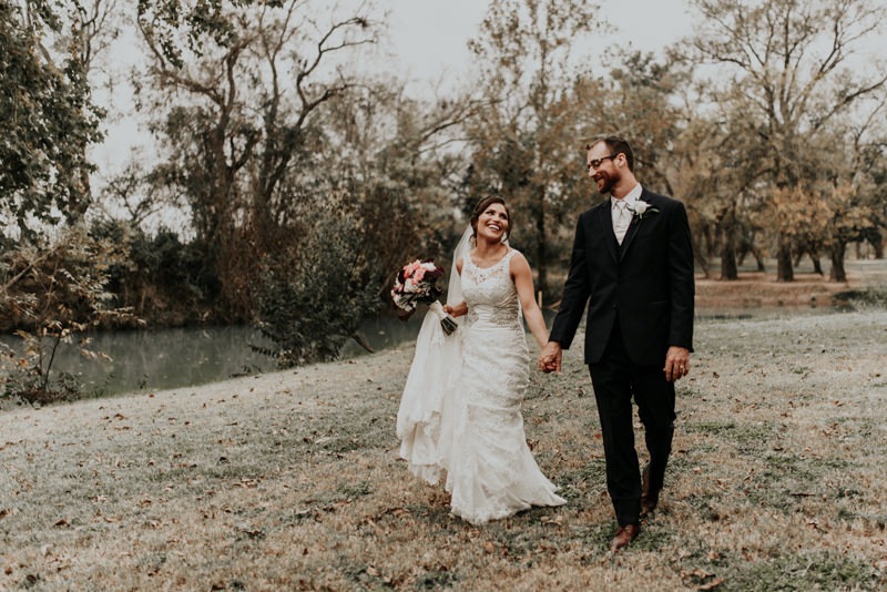 Beautiful Couple After Their Wedding in Austin Texas