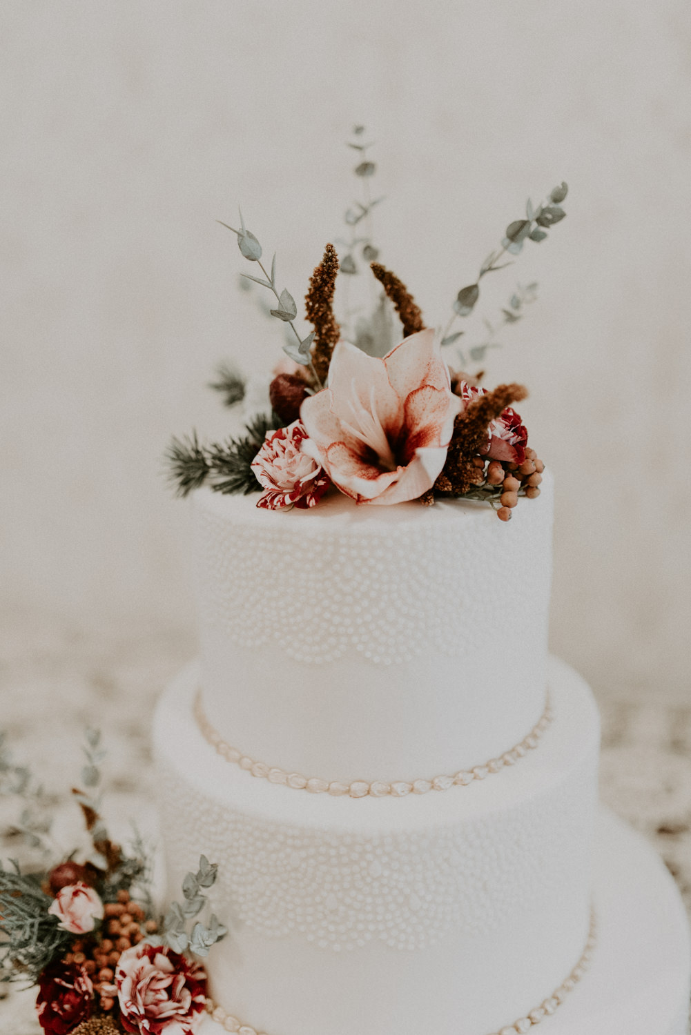 lily wedding cake topper